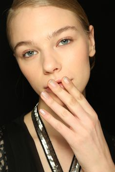 Reem Acra AW16 Beauty + Nail Look using Zoya Leia