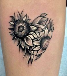 Red Bird Tattoos, Sunflower Tattoos, Shattered Bob, Owl Clock, Rock Art, Tatting, Piercings, Ink, Sunflowers