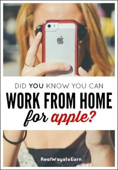 Apple hires people across the United States to work from home? And not only that, but the job pays very well -- usually in the teens.
