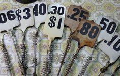 1 Vintage Metal Cash Register Number by CaityAshBadashery on Etsy