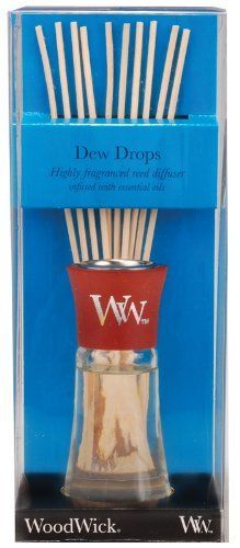 WoodWick Dew Drops Mini Reed Diffuser by WoodWick®. $10.99. Woodwick reed diffusers feature highly concentrated fragrances infused with essential oils. Fragrance without the flame. Refreshing scent of morning dew blended with hints of green lemon leaves and creeping ivy.