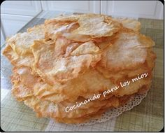orejas de carnaval thermomix Thermomix Bread, Bread Cake, Bread And Pastries, Love Food, Voici, Bakery, Food And Drink, Cooking, Tupperware