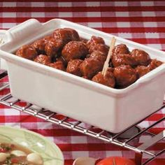 Appetizer Meatballs - Sounds delicious with a tangy homemade Barbeque sauce. Definitely trying real soon!