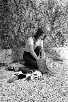 Jane Birkin and her basket.