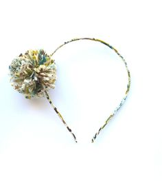 pom pom head band - liberty enchanted garden