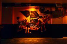 """Mural realizado en la discoteca y sala de conciertos """"Trashcan""""   Os recomiendo pasar a tomar..."""