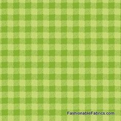 Fabric... Flannel Forest Friends Gingham in green by Northcott Fabrics