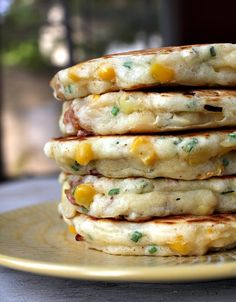 bacon and corn griddle cakes... looks amazing.