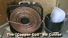 "Homemade AC - The ""Copper Coil"" Air Cooler! - (Simple ""Box Fan"" Conversi..."
