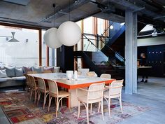 Alex Hotel, Interior design by Arent & Pyke Australian Interior Design, Interior Design Awards, Interior Styling, Interior Decorating, Dining Area, Dining Table, Dining Rooms, Communal Table, Dining Chairs