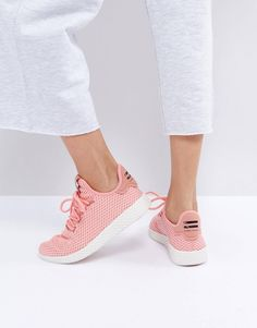separation shoes 665fd cdf16 adidas Originals X Pharrell Williams Tennis HU Sneakers In Pink