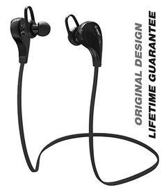 Bluetooth Headphones, TOTU Wireless Bluetooth Headphones Noise Cancelling Headphones w/ Microphone [ Gym / Running / Exercise / Sports / Sweatproof ] Wireless Bluetooth Earbuds Headset Earphones for Apple watch iPhone 6, 6 Plus, 5 5c 5s 4s,iPad Air, Samsung Galaxy S6,S5,S4,S3 Note 4 3, HTC M9 M8 M7,LG Flex 2 G3 G2, and Other Bluetooth Android IOS Smart Cell phones/Devices TOTU http://www.amazon.com/dp/B00Y4M01JA/ref=cm_sw_r_pi_dp_lusUwb0YWYEK2