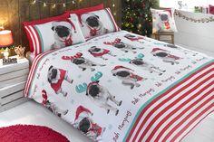 Christmas Pugs Duvet Set   Studio