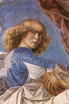 Melozzo da Forli - Music-making Angel, 1480-84 Fresco Pinacoteca, Vatican.
