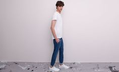 Pull&Bear - man - trousers and shorts - chinos style trousers - blue - 05682562-V2015