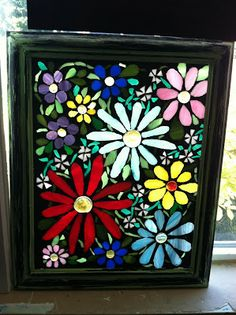 Mosaic Glass On Glass Windows | Pollyanna Reinvents: Colored Glass Mosaics