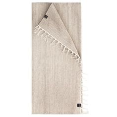 Dieser universell einsetzbare Baumwollteppich der schwedischen Textil-Trendmarke Himla heißt Särö und zeigt sich hier im Farbton