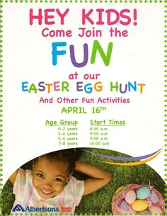 Free Downloadable Easter Egg Hunt Flyer Template  FlyertutorCom
