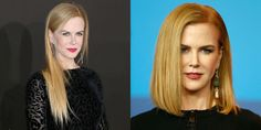 Nicole Kidman's ultra-long locks are no longer! The Aussie actress showed up at a press conference for her film Queen of the Desert in February sporting a much shorter, shoulder-grazing style that is so chic it has us contemplating a major cut (and switching up our part), too.
