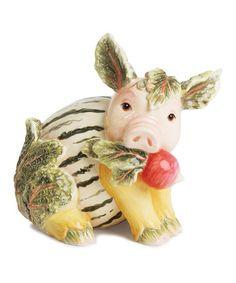 This Leafy Pig Figurine is perfect! #zulilyfinds