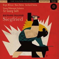 "Album cover art for ""Siegfried"" by Spanish illustrator Joaquín Pertierra. via el enigma pertierra"