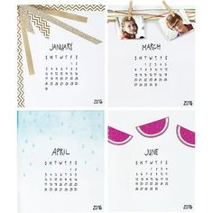 Do something creative every month! Our do-it-yourself desk calendar allows you to decorate your own monthly pages for a calendar that's perfectly you. These plain pages allow for endless possibilities