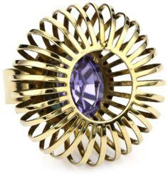 "Anton Heunis ""Art Deco Renaissance"" Majestic Adjustable Cage Ring"