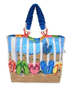 This Paul Brent Blue Flip-Flop Tote by Paul Brent is perfect! #zulilyfinds