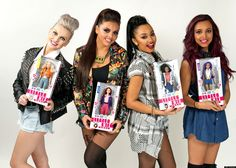 Plastic Fantastic: Little Mix pose with their dolls
