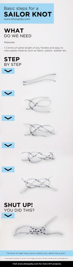 Very easy sailor knot DIY Tutorial - I would like to incorporate SOME kind of knot in the invitation