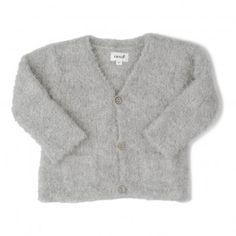 Baby Alpaga Cardigan Light grey  Oeuf NYC
