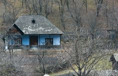 Casa traditionala romaneasca din Varlaam, Buzau Small Houses, Old Houses, Painting Inspiration, Austria, House Plans, Cottage, House Design, Traditional, Country