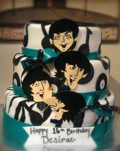 The Beatles Theme Cake