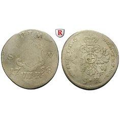 Ulm, Reichsstadt, 7 Kreuzer 1758, s: 7 Kreuzer 1758 Augsburg. Ulmer Stadtschild zwischen S - W, Wert und Jahr / Doppeladler. Nau… #coins