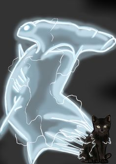 Kitten-shark from Dirk Gently's Holistic Detective Agency. By Isabella Ravenwood.