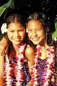 Beautiful hawaian girl