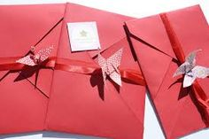 Resultado de imagem para convite de casamento em origami