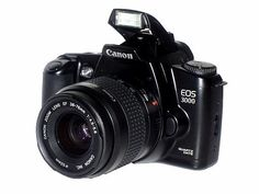 Canon eos 3000. Bought this baby this morning off eBay from a guy in Italy! Brand spankin' new and I can't wait till it gets here!!!