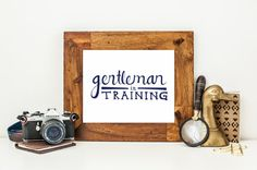 Gentleman in Training Navy Blue Nursery Decor by JourneyJoyful