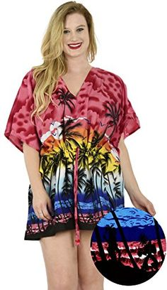 New Red Swimwear Beach Wear Cover Up Kaftan Ladies Summer Casual Mini Dress Top