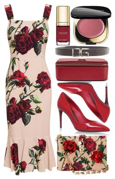 """Dolce Roses"" by egordon2 ❤ liked on Polyvore featuring Dolce&Gabbana"