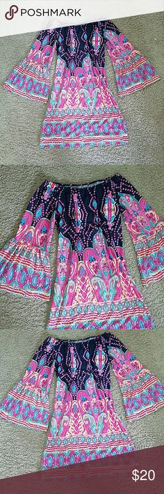 Multicolor Dress Tunic Dress Style with leggings or wear without Nenna's Dresses