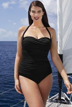f490637a69 Try out the Black Convertible Tankini Top and more at Swimsuits for All!  From stylish tankinis to classic bikinis