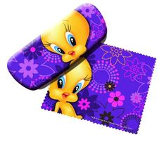 Looney Tunes Tweety Bird Cleaner and Eyeglass Case Spoontiques http://www.amazon.com/dp/B004S759A2/ref=cm_sw_r_pi_dp_n0covb17Z6630