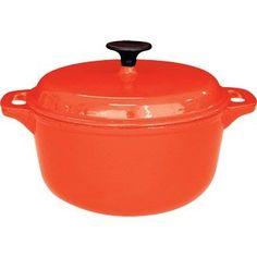 Vogue Round Casserole Orange - 7.75Ltr 210x360x300mm