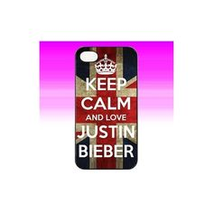 JUSTIN BIEBER KEEP CALM CASE TO FIT IPHONE FOUR 4/4S/4G HARD COVER ❤ liked on Polyvore