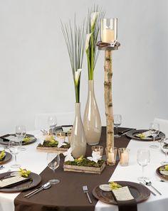 Creme und Braun - weddingstyle.de Dekoration