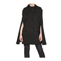 Laltra Moda Hooded Gabardine Coat ❤ liked on Polyvore