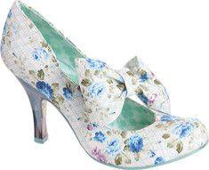 Irregular Choice Tea And Cakes (Women's) - Blue Print Fabric - Yvonne's #shoes