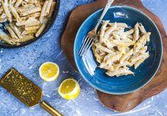 Krémové těstoviny s citronem a rozmarýnem